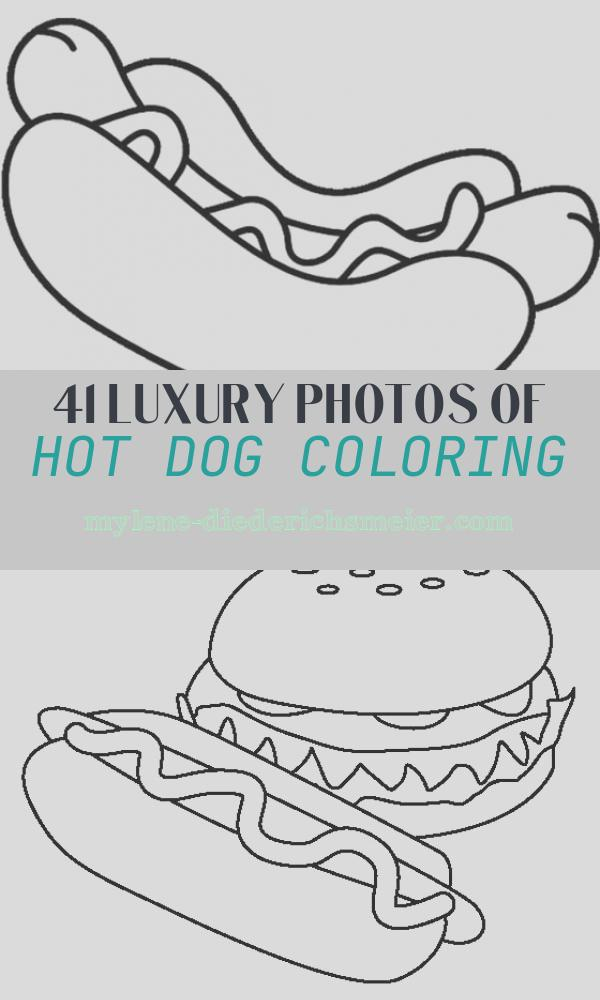 Hot Dog Coloring Elegant Hot Dog Picture Coloring Page