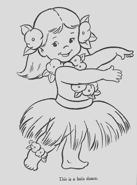 hula dancing coloring pages sketch templates