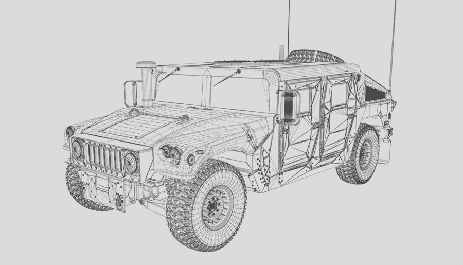 humvee of coloring sketch templates