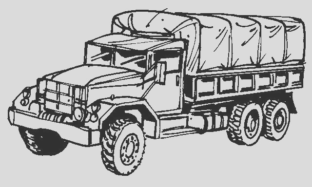 military vehicles coloring pages
