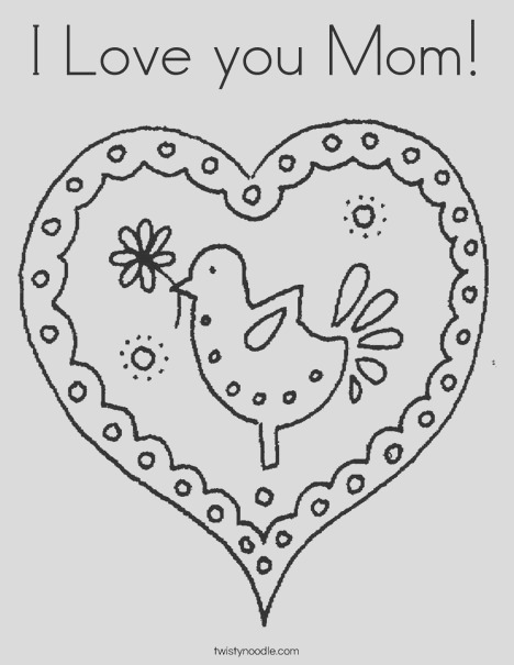 i love you mom 134 coloring page