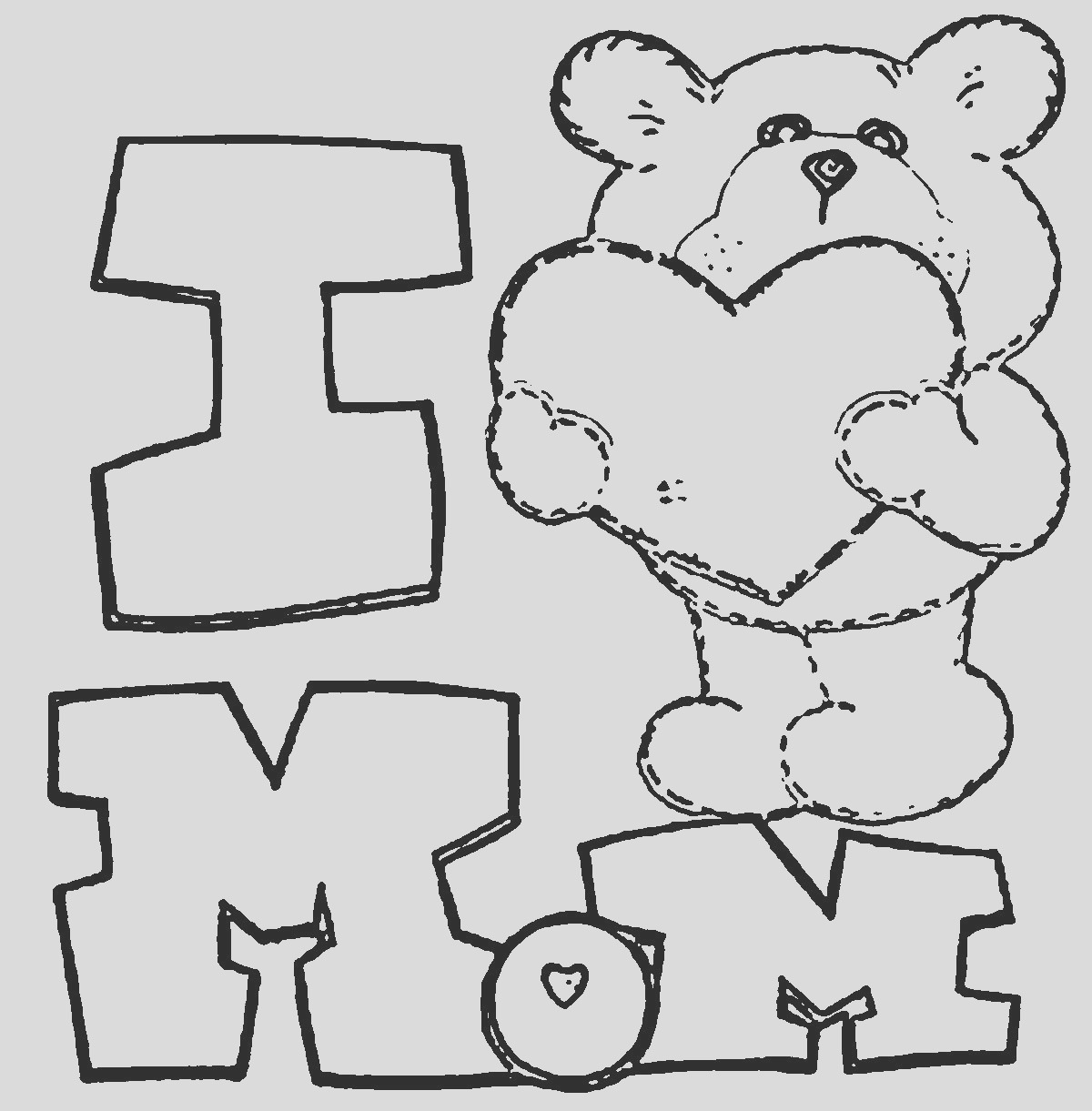 i love you mom coloring pages