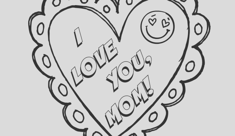 love mom mothers day coloring page free printable