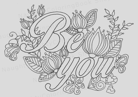 be you coloring page law of attraction
