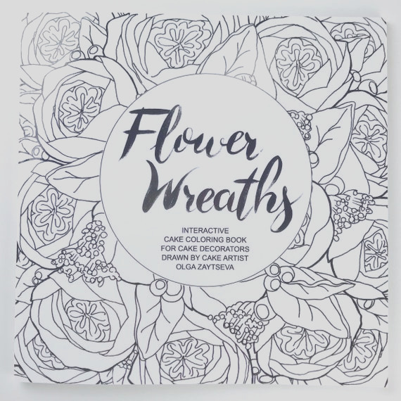 adult coloring book flower wreaths