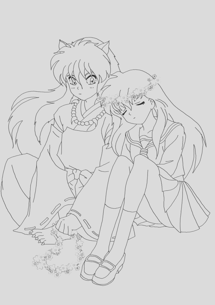 inuyasha coloring pages
