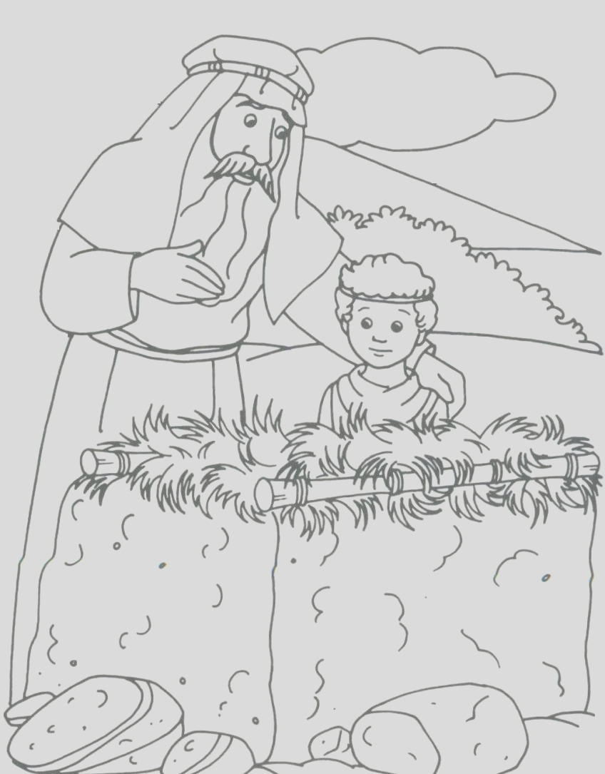 abraham and isaac coloring pages