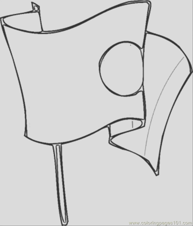 6918 japanese flag coloring page