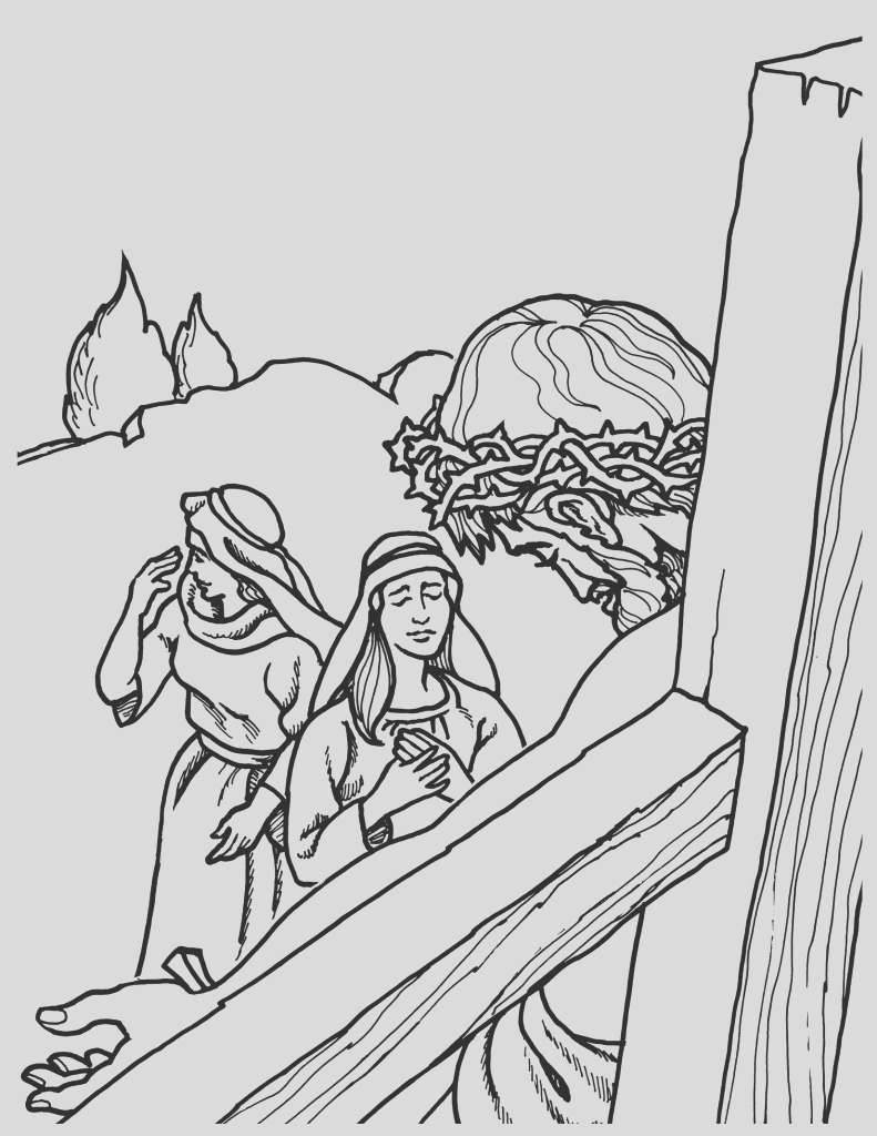 jesus crucified coloring pages