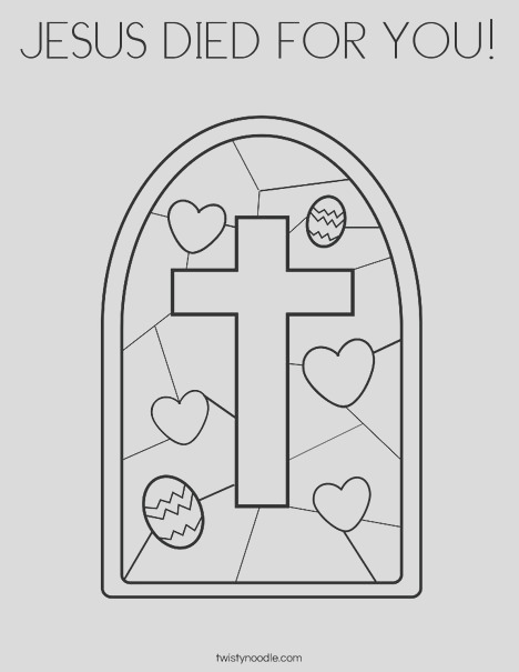 jesus d for you coloring page