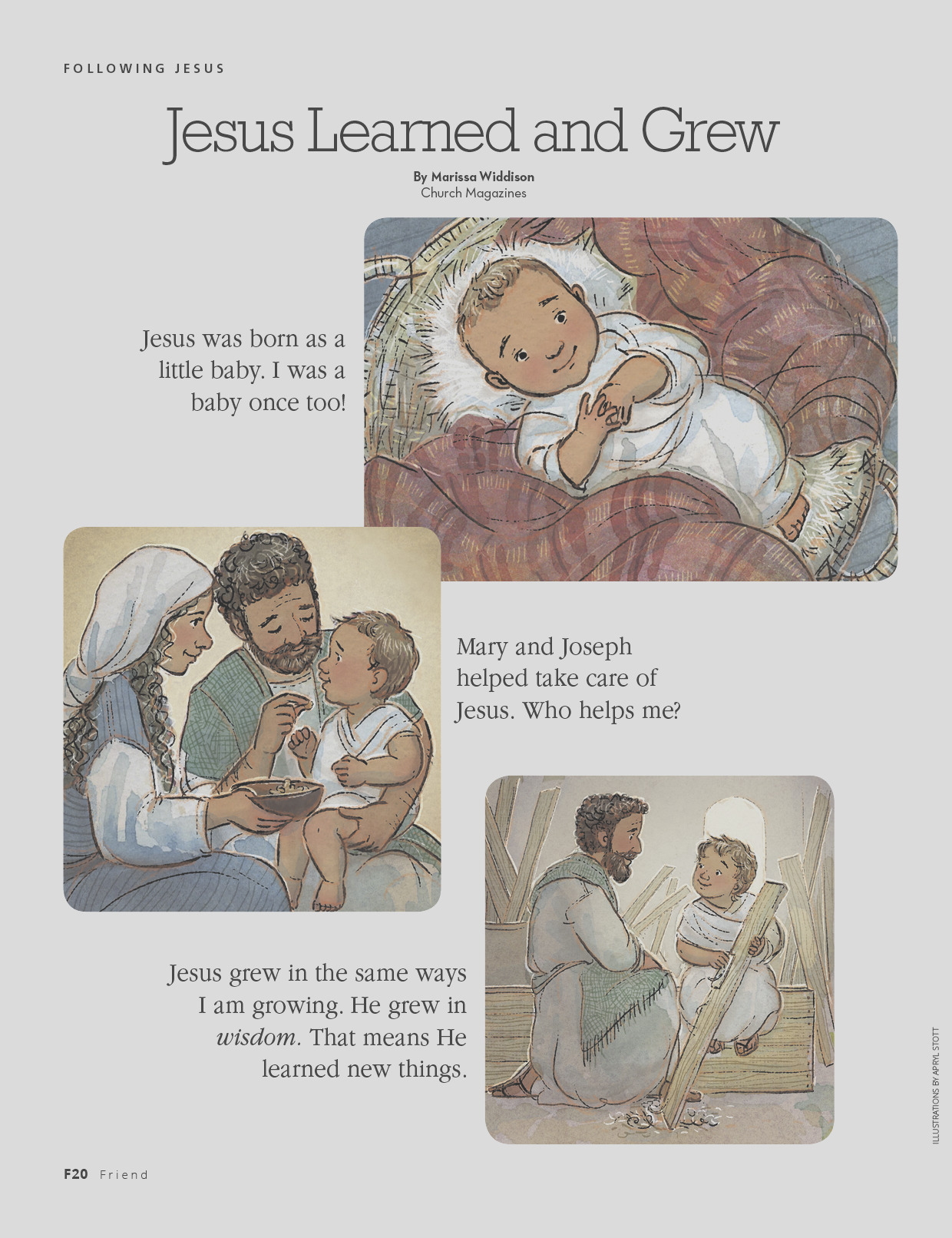 jesus learned and grew