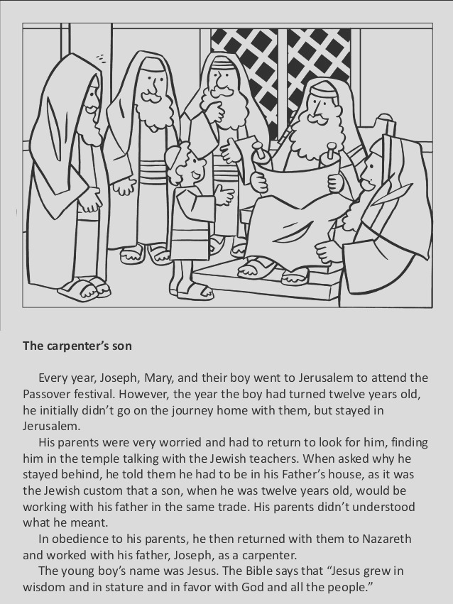 children and young people in the bible coloring book