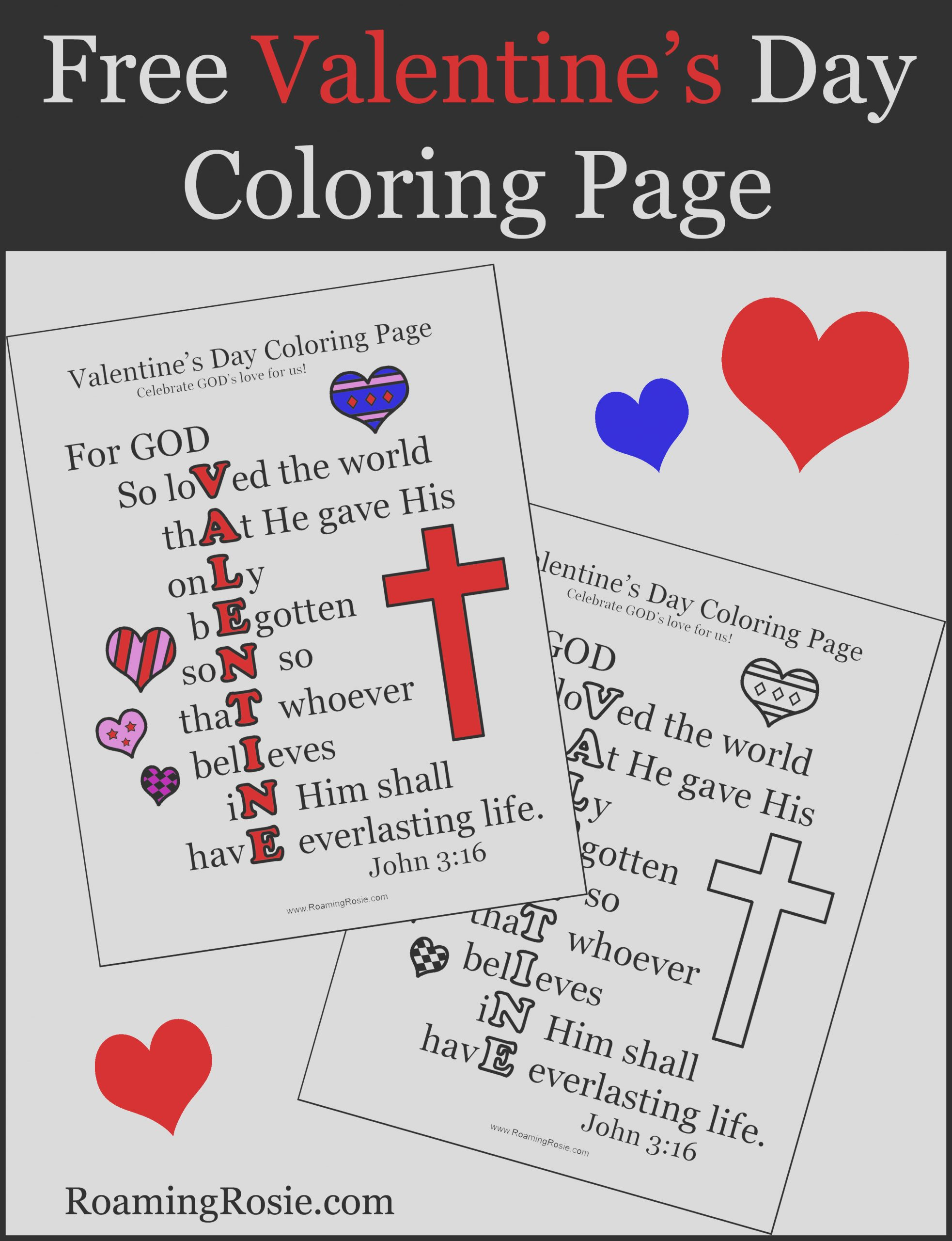 valentines day coloring page with john 316 quote