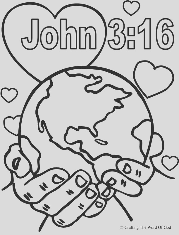 god so loved the world coloring page