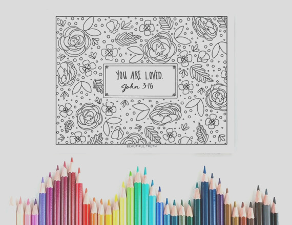 you are loved coloring page john 316