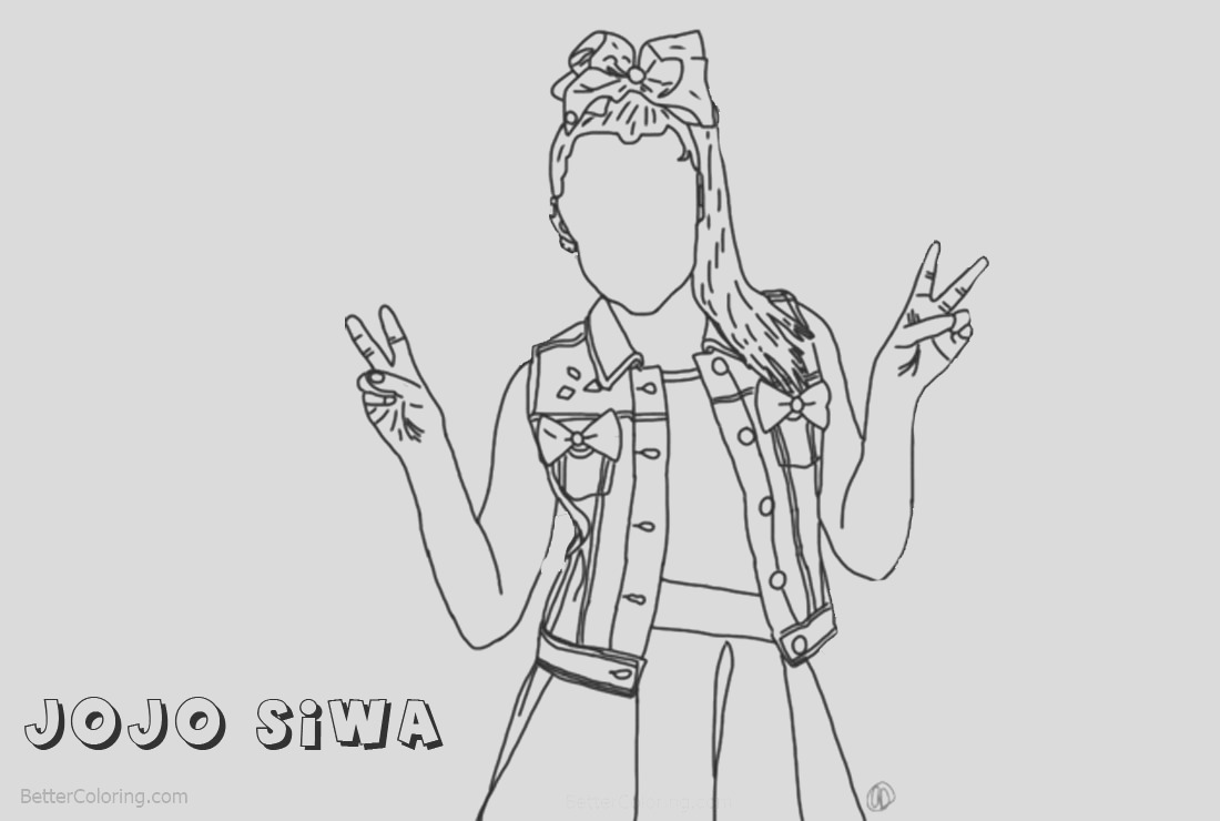 jojo siwa coloring pages drawing by autumnarendelle