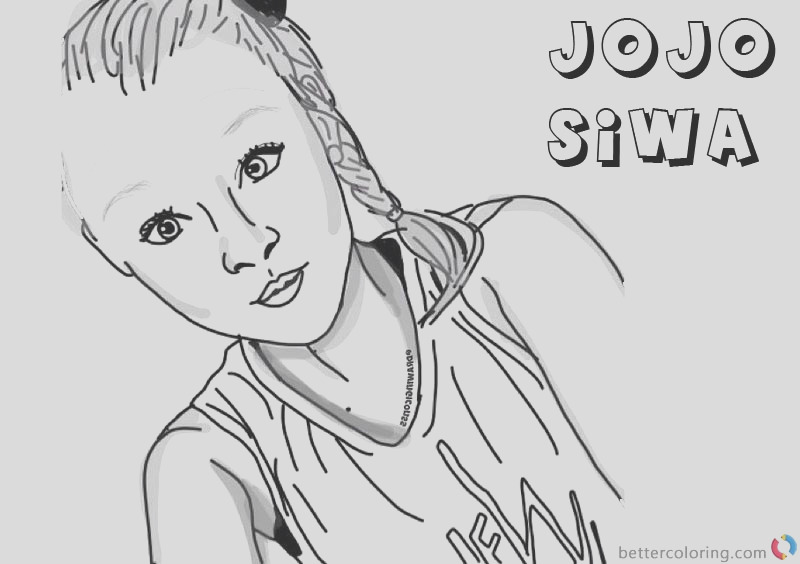 jojo siwa coloring pages by drawingiconss