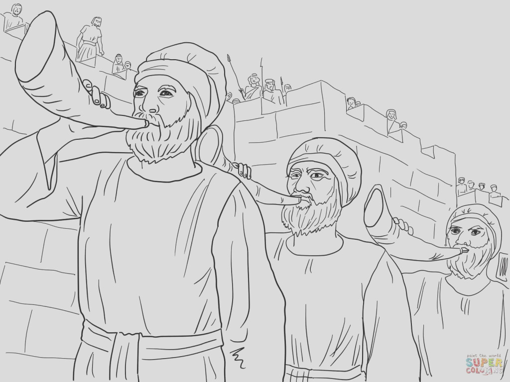 coloring pages battle of jericho