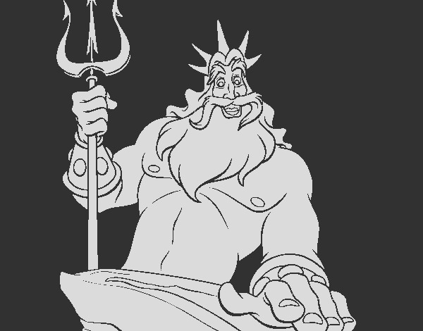 lego king triton coloring pages sketch templates