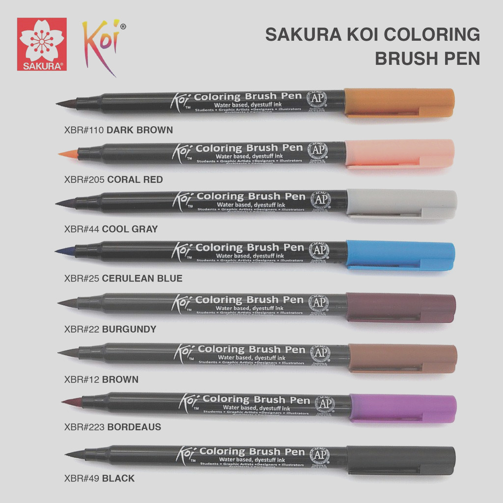 Sakura Koi Coloring Brush Pen 48 Colors Available List 6 6 i