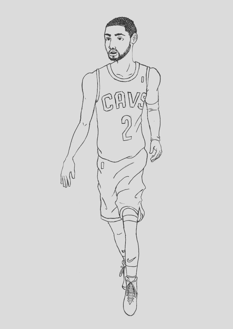 Kyrie Irving Pencil Drawing