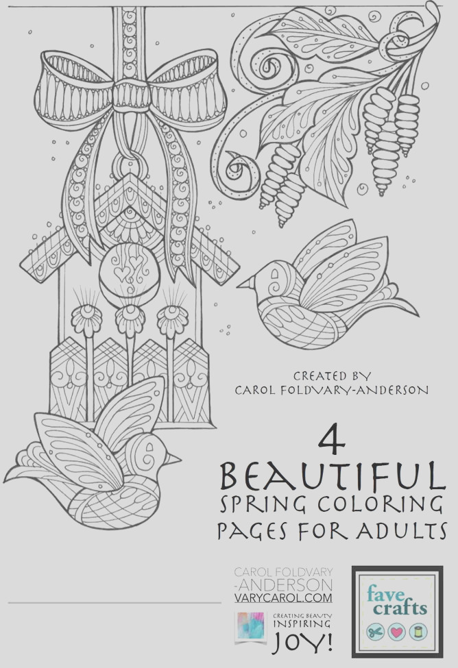 Beautiful Spring Coloring Pages for Adults Free eBook