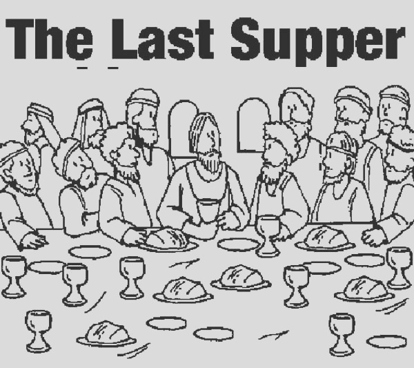 picture of the last supper coloring page