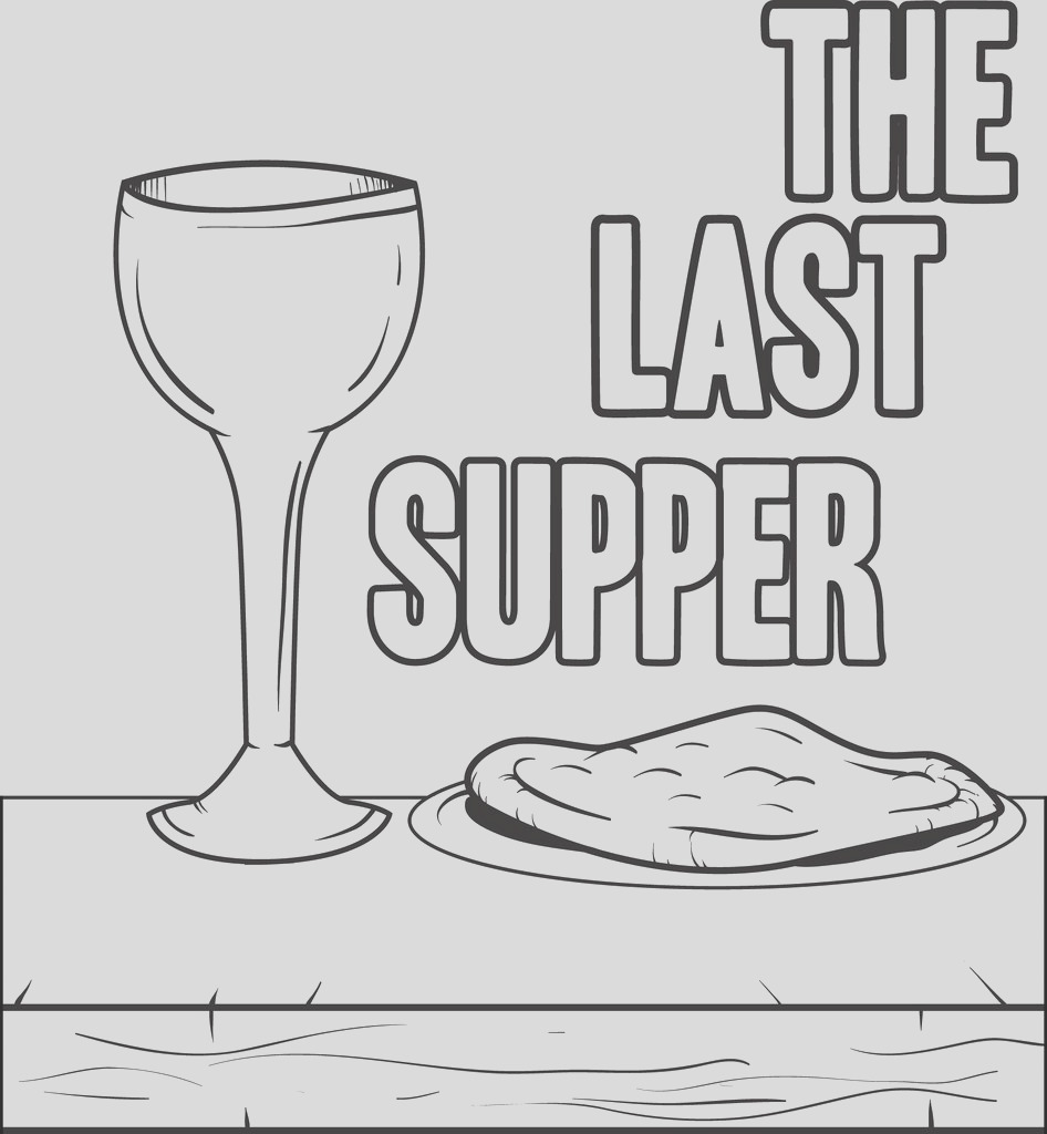 the last supper coloring page a4595