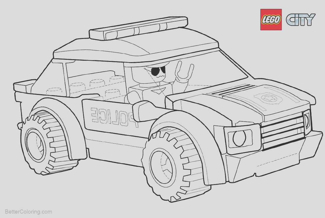 lego city coloring pages police car