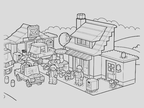 activity in lego city coloring page