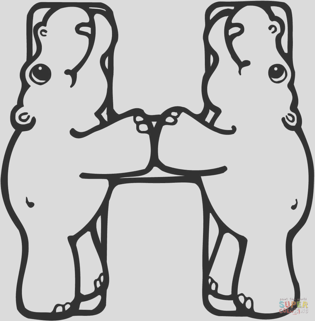 letter h is for hippo or hippopotamus
