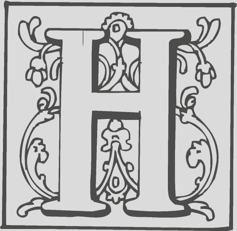 letter h with ornament