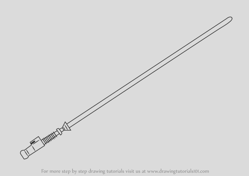 how to draw lightsaber from star wars