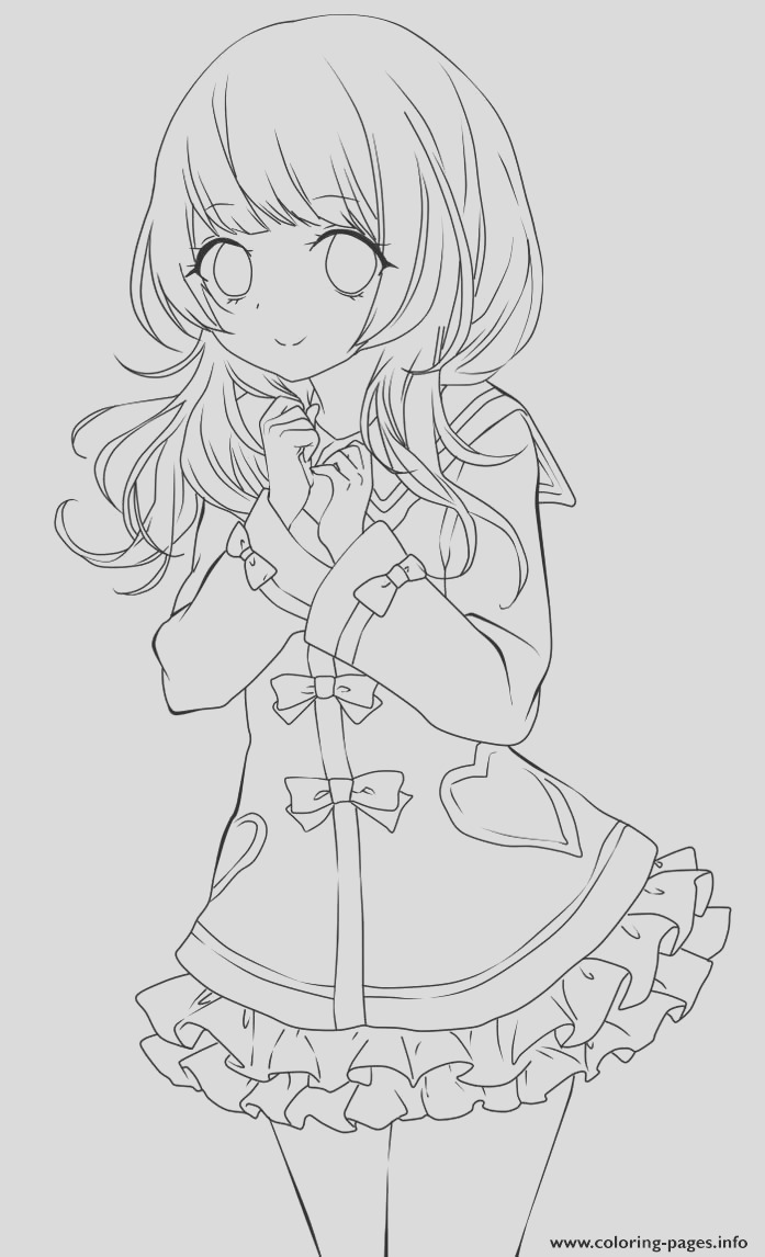 cute anime girl lineart by chifuyu san printable coloring pages book