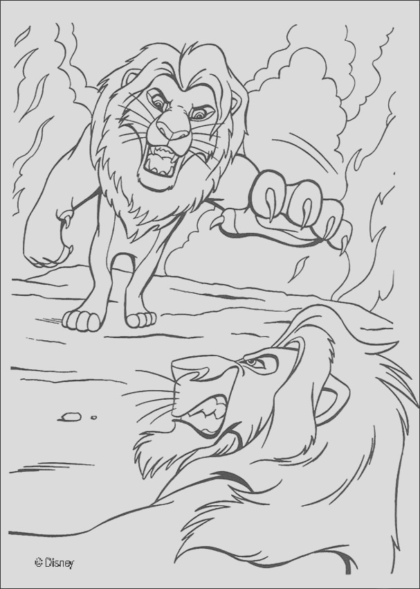 mufasa fighting a duel with scar
