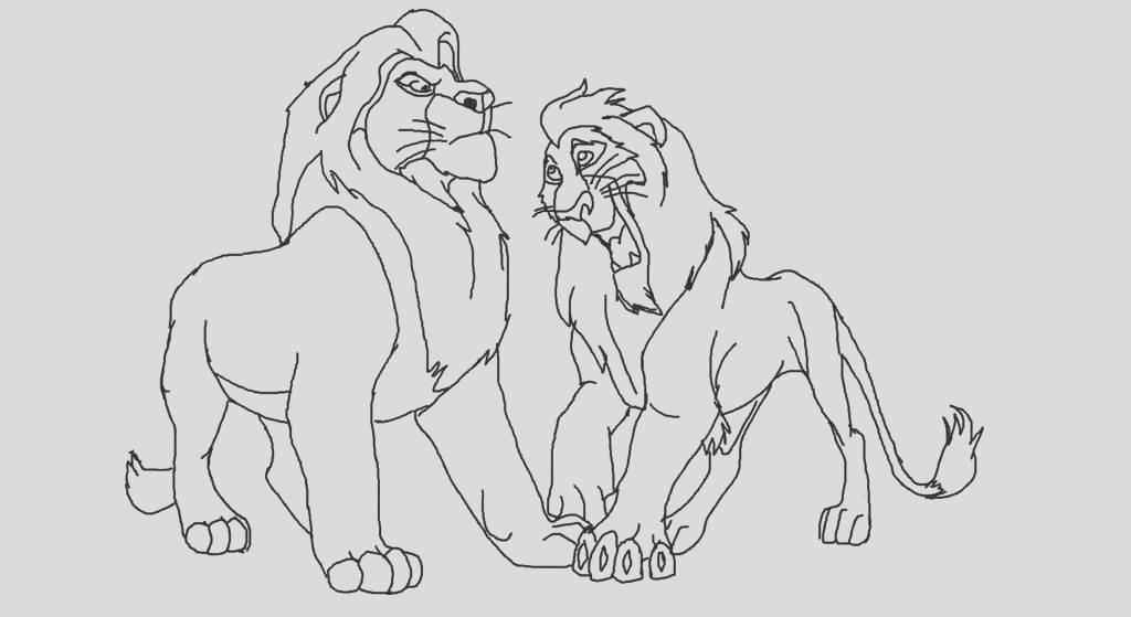 The lion king scar and mufasa base