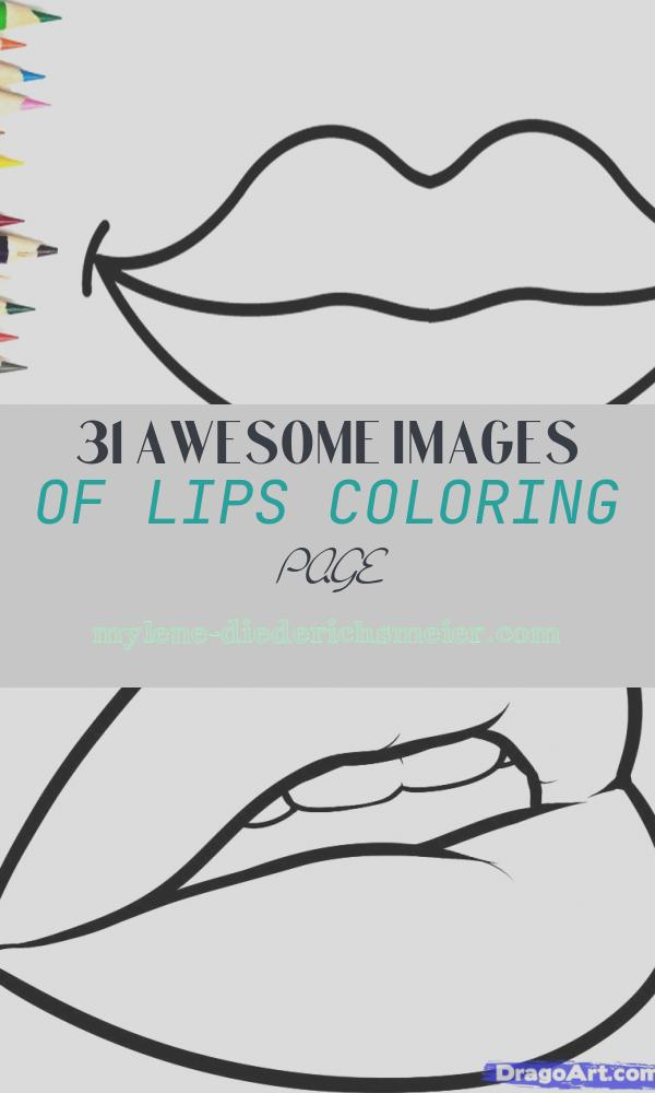 Lips Coloring Page Fresh How to Draw Heart Lips Coloring Pages for Kids