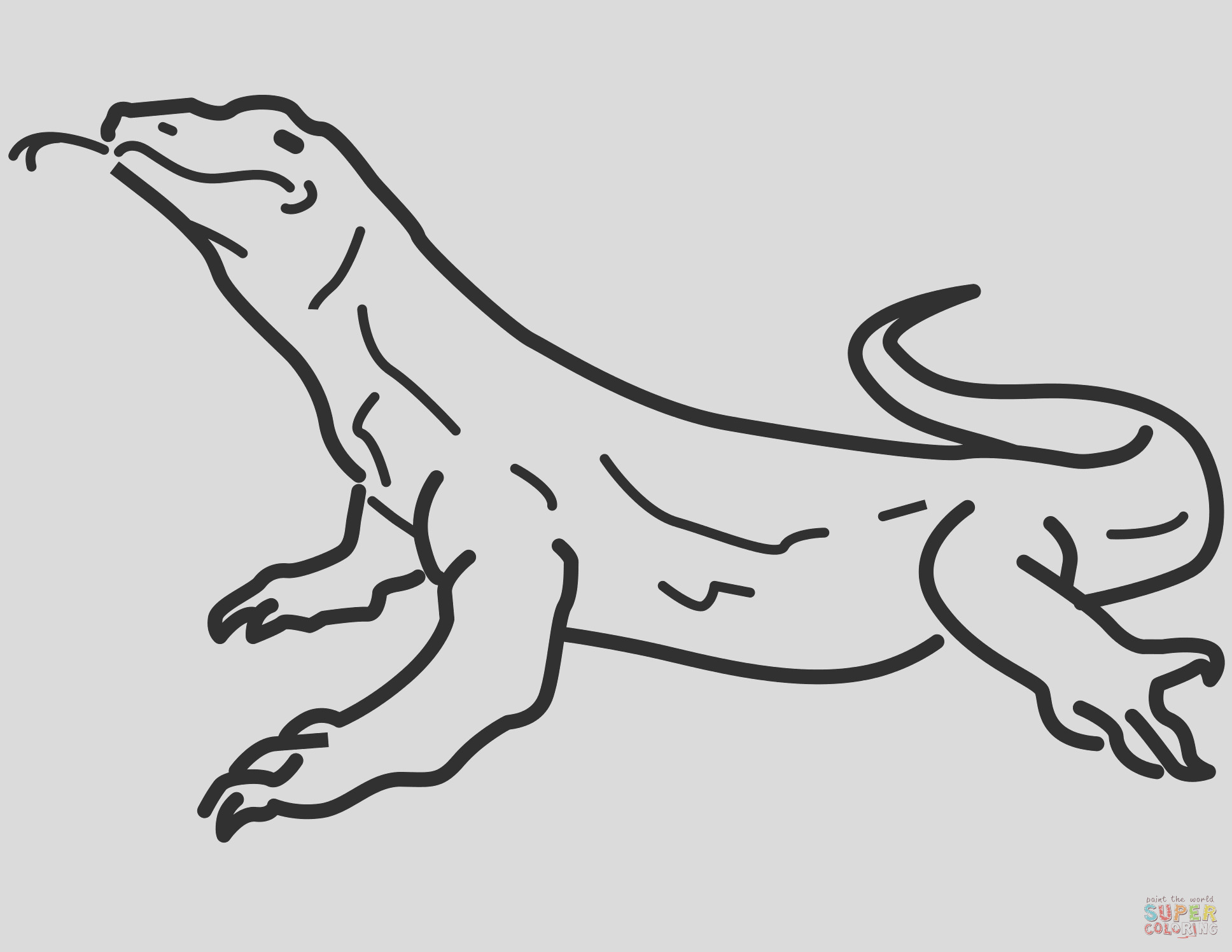 lizard cartoon drawing