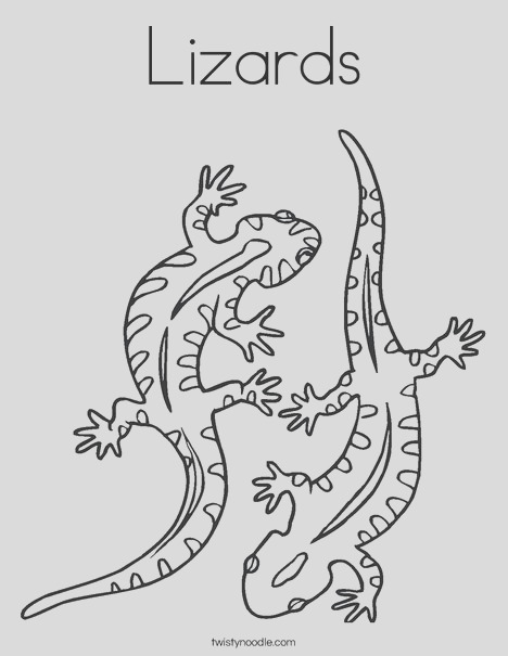 lizards 2 coloring page