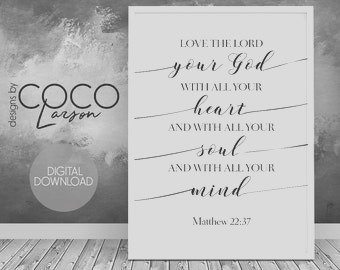 matthew 2237 love the lord your god with