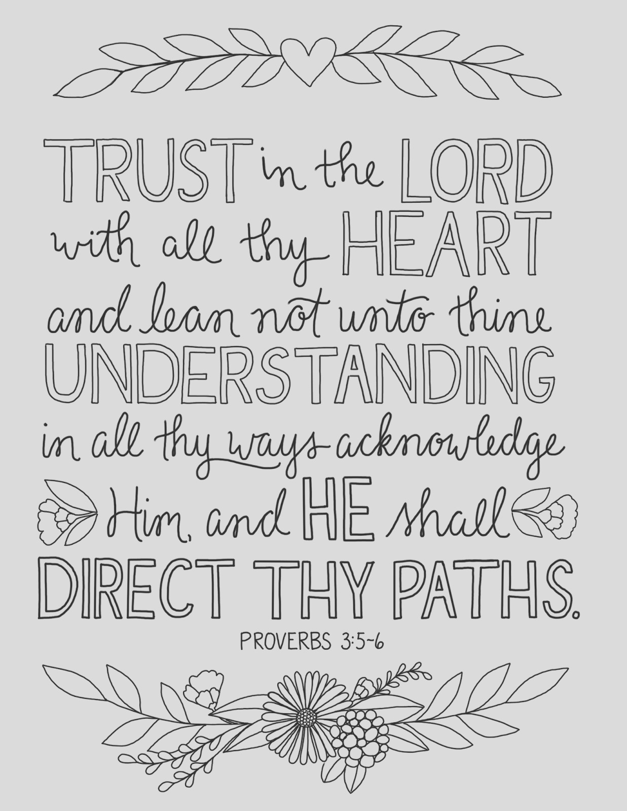trust in lord coloring page 6