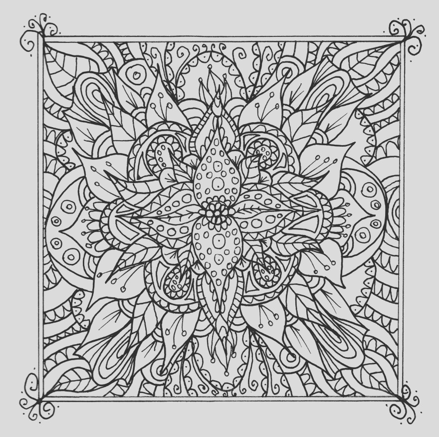 beautiful detailed line art free to print and colour