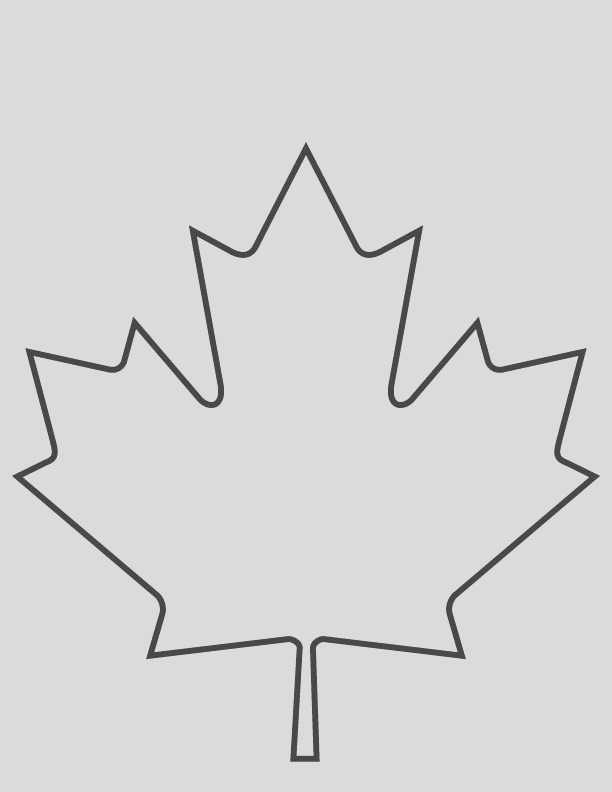 maple leaf coloring page 1d5423