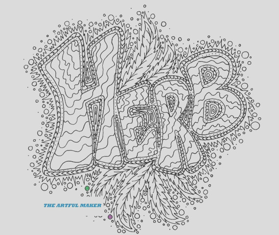 herb adult coloring page by the artful