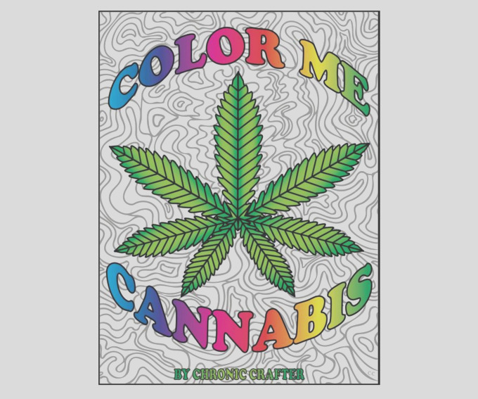 color me cannabis is a ganj themed coloring book for stoners
