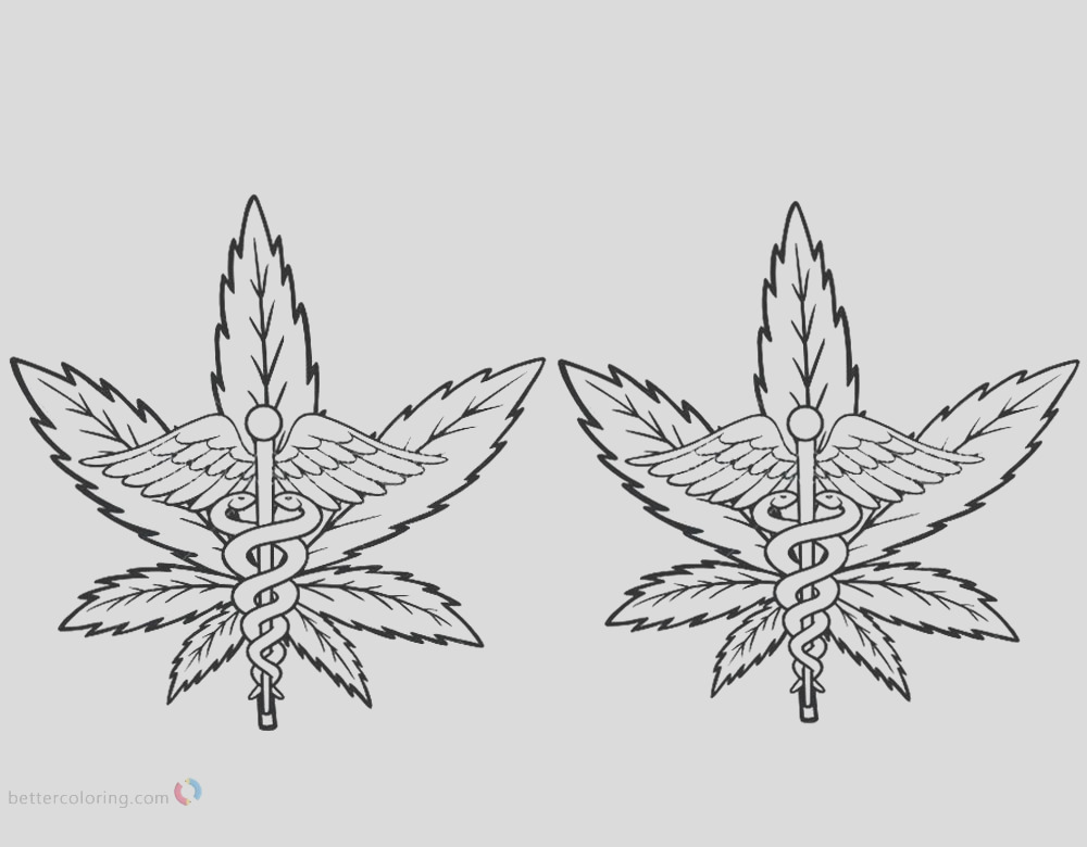 weed coloring pages cannabis with pot