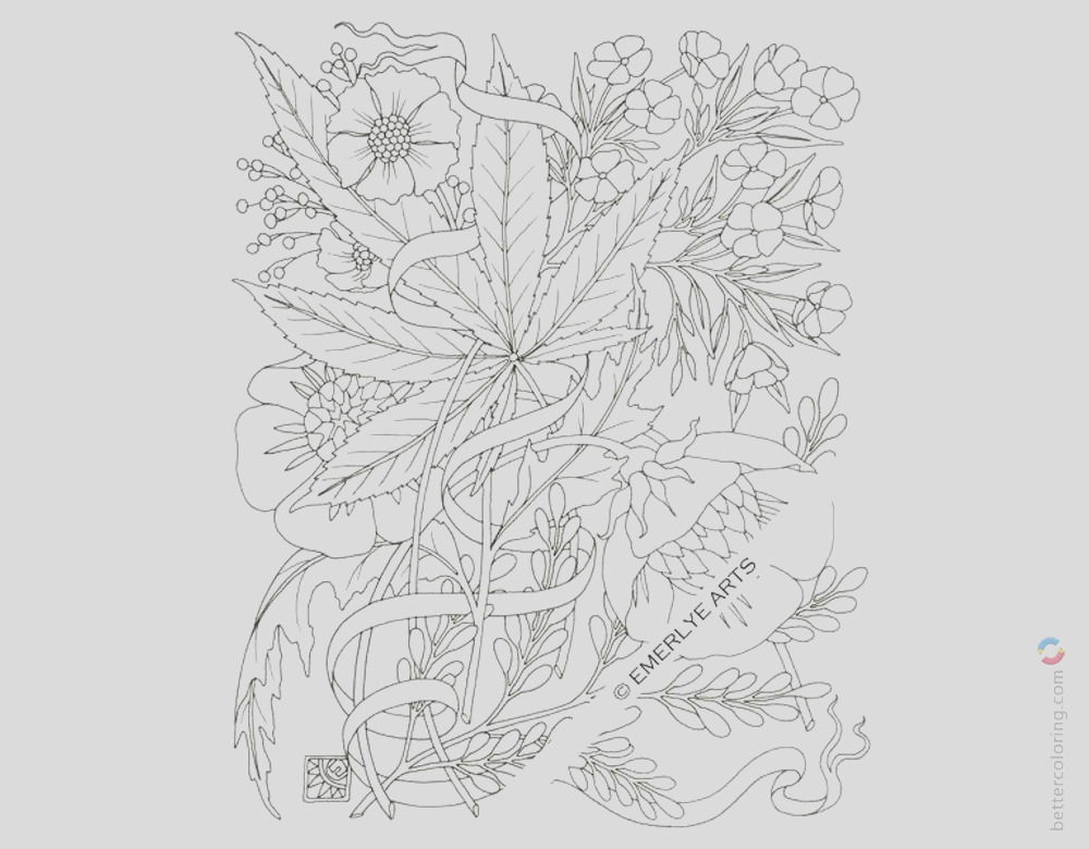 weed coloring pages cannabis tattoos