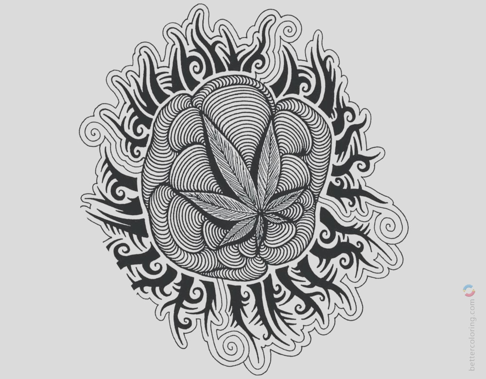 weed coloring pages tattoos picture