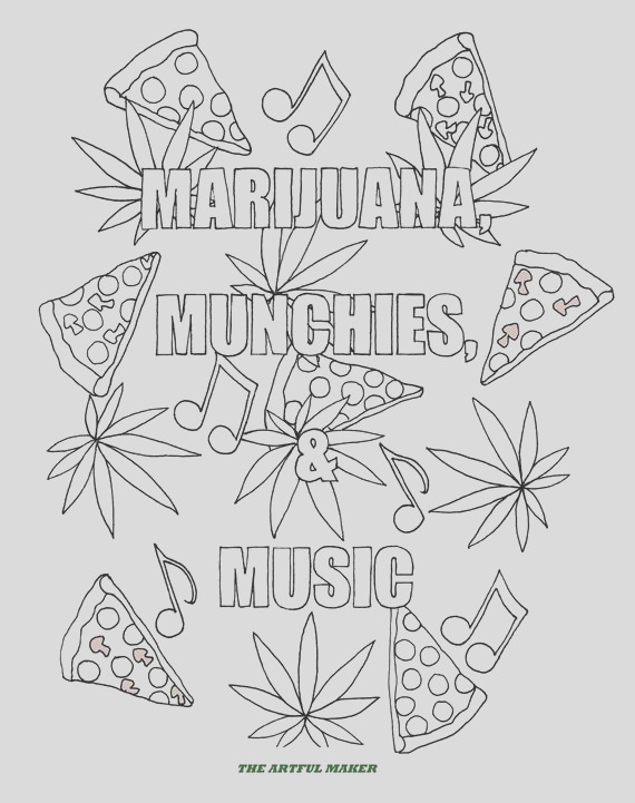 munchies music adult coloring