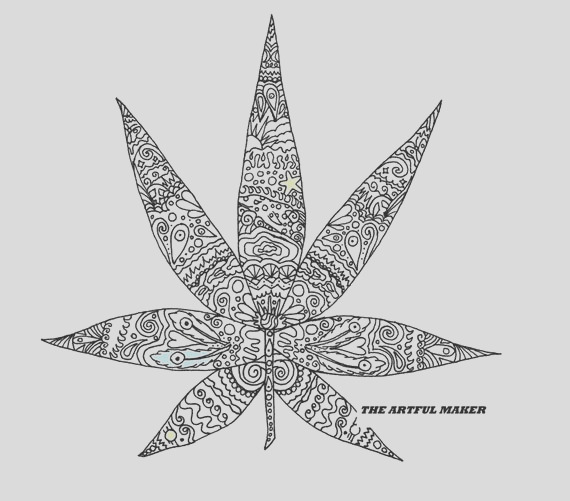sweet leaf adult coloring page by the